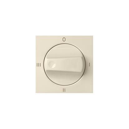 Abdeckung für Drehschalter 4 Positionen 0-I-II- III beige matt Kontakt Simon 82 82079-31