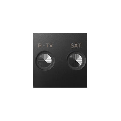 Abdeckung für  R-TV-SAT- Dose 2fach graphit matt Kontakt Simon 82 82097-38