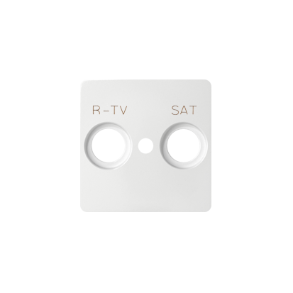 Abdeckung für  R-TV-SAT- Dose 2fach weiß Kontakt Simon 82 82097-30