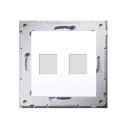 Abdeckung für Telefon- und Datensteckdose (Modul) 2fach auf Keystone DKP2.01/11