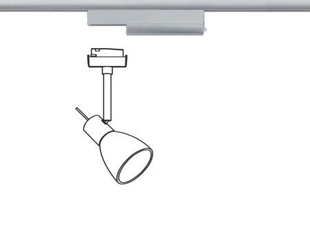 Adapter wireless max 50W Schienensystem URail Chrom matt