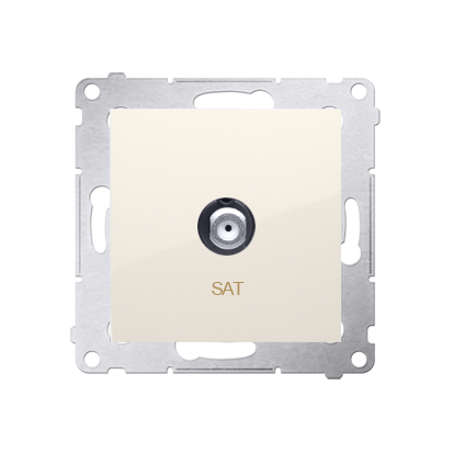 Antennendose SAT Einsatz cremeweiß matt Simon 54 Premium Kontakt Simon DASF1.01/41