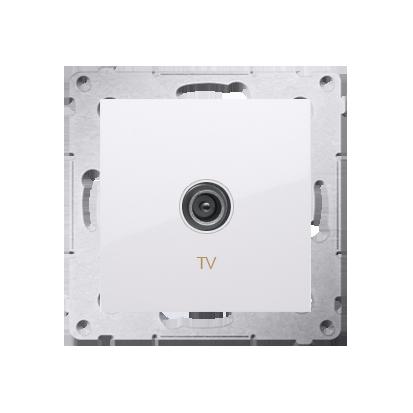Antennendose TV Einsatz weiß  Simon 54 Premium Kontakt Simon DAK1.01/11