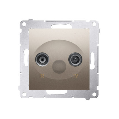Antennensteckdose R-TV Endsdose 10dB gold matt Kontakt Simon 54 Premium DAZ.01/44