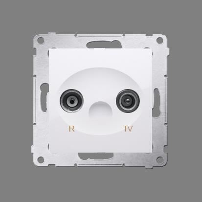Antennensteckdose R-TV Endsdose 10dB weiß glänzend Kontakt Simon 54 PremiumDAZ.01/11