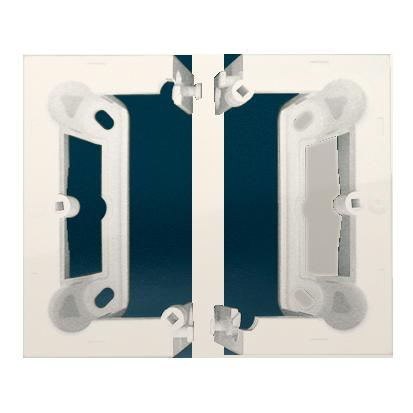 Aufbau-Gehäuse tief (40mm) 1Stück DSC/.. = 2 Elemente cremeweiß Kontakt Simon 54 Premium DSC/41