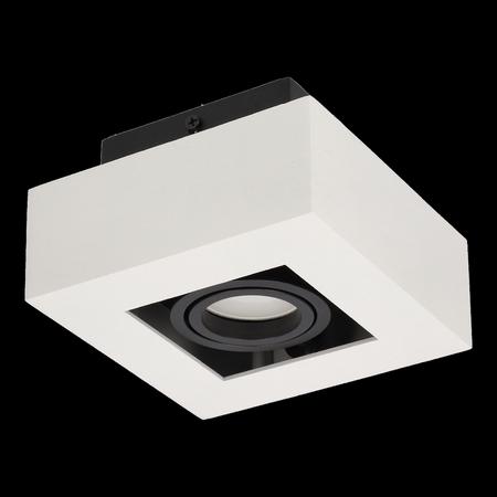 Aufbaustrahler Aufbauleuchte OSMIN 1 WHITE Deckenleuchte quadratisch weiß-matt EDO777143 EDO