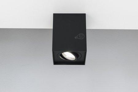 Aufbaustrahler Aufbauleuchte PALLAD 1 BLACK GU10 Deckenleuchte quadratisch schwarz EDO777108 EDO
