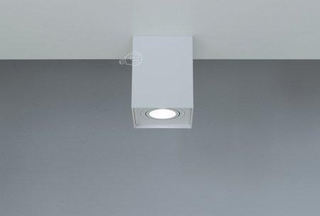 Aufbaustrahler Aufbauleuchte PALLAD 1 WHITE GU10 Deckenleuchte quadratisch weiß EDO777109 EDO