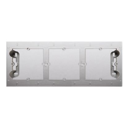 Aufputz- Gehäuse 3fach silber matt Simon 54 Premium Kontakt Simon DPN3/43