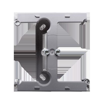 Aufputz- Gehäuse tief (40mm)  mit Erweiterungmodul für Rahmen 1fach inox (met.) Kontakt Simon PSH/21