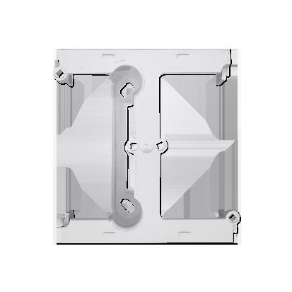 Aufputz- Gehäuse tief (40mm) mit Erweiterungselement für Mehrfach- Rahmen weiß DSH/ 11