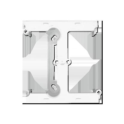 Aufputz- Gehäuse tief (40mm) weiß mit Erweiterungmodul für Rahmen 1fach Kontakt Simon PSH/11