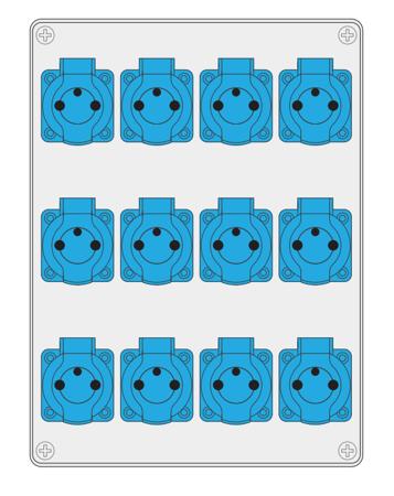 Baustromverteiler, Wandverteiler , Stromverteiler  R-BOX 300 12x250V B.18.3172 Pawbol