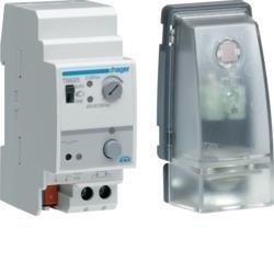 Dämmerungsschalter 6 Kanäle mit AP Helligkeitfühler IP65 Hager TXA026