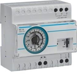 Dämmerungsschalter mit Analoger Tagesschaltuhr + Aufbaufühler EE003 Hager EE110