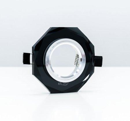 Deckeneinbauleuchte Deckenstrahler 1 achteckig Glas schwarz