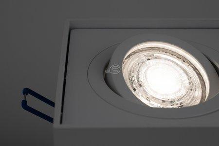 Deckeneinbauleuchte PALLAD 1 MINI WHITE Deckenleuchte quadratisch weiß EDO777124 EDO