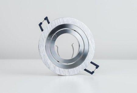 Deckenstrahler Einbaustrahler CERI 1 OV SILVER rund Silberschnitt EDO777140 EDO
