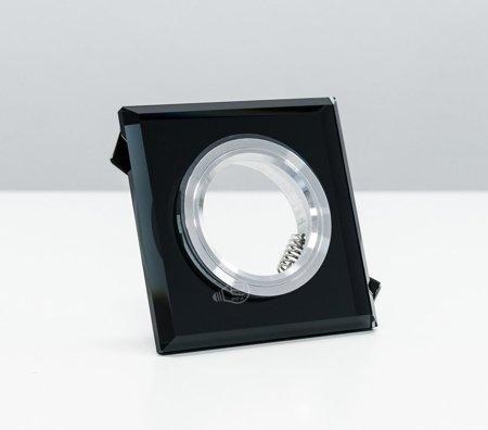 Deckenstrahler Einbaustrahler aus Glas dekorativ schwarz eckig