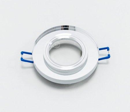 Deckenstrahler Einbaustrahler aus Glas dekorativ silber rund
