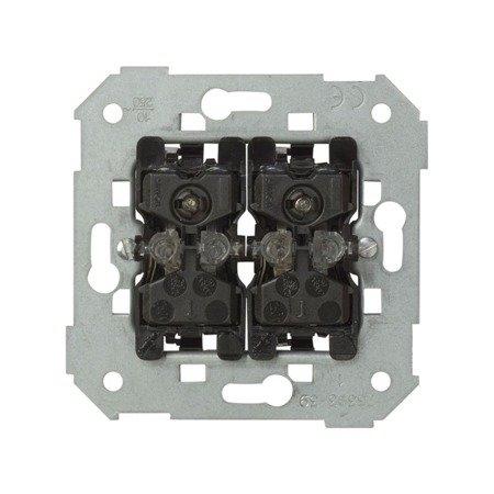 Doppel- Taster  Einsatz mit LED 10AX Kontakt Simon 82 75393-39