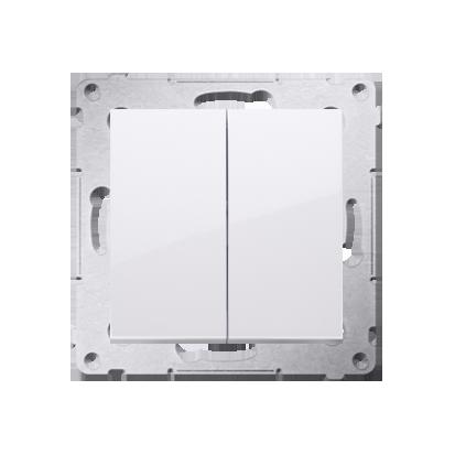 Doppeltaster ohne Aufdruck Steckklemmen Weiß Simon 54 Premium Kontakt Simon DP2.01/11