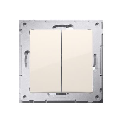 Doppeltaster ohne Aufdruck Steckklemmen cremeweiß Simon 54 Premium Kontakt Simon DP2.01/41