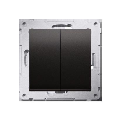 Doppelter Kerzenschalter (Modul) Anthrazit matt Kontakt Simon 54 Premium DW5A.01/48