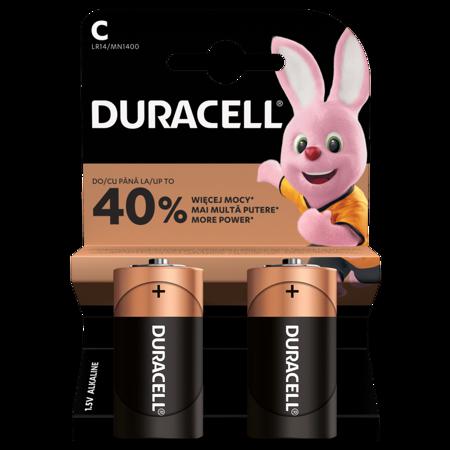 Duracell Alkaline-Batterien C LR14 1,5V DURACELL Blister 2 Stück