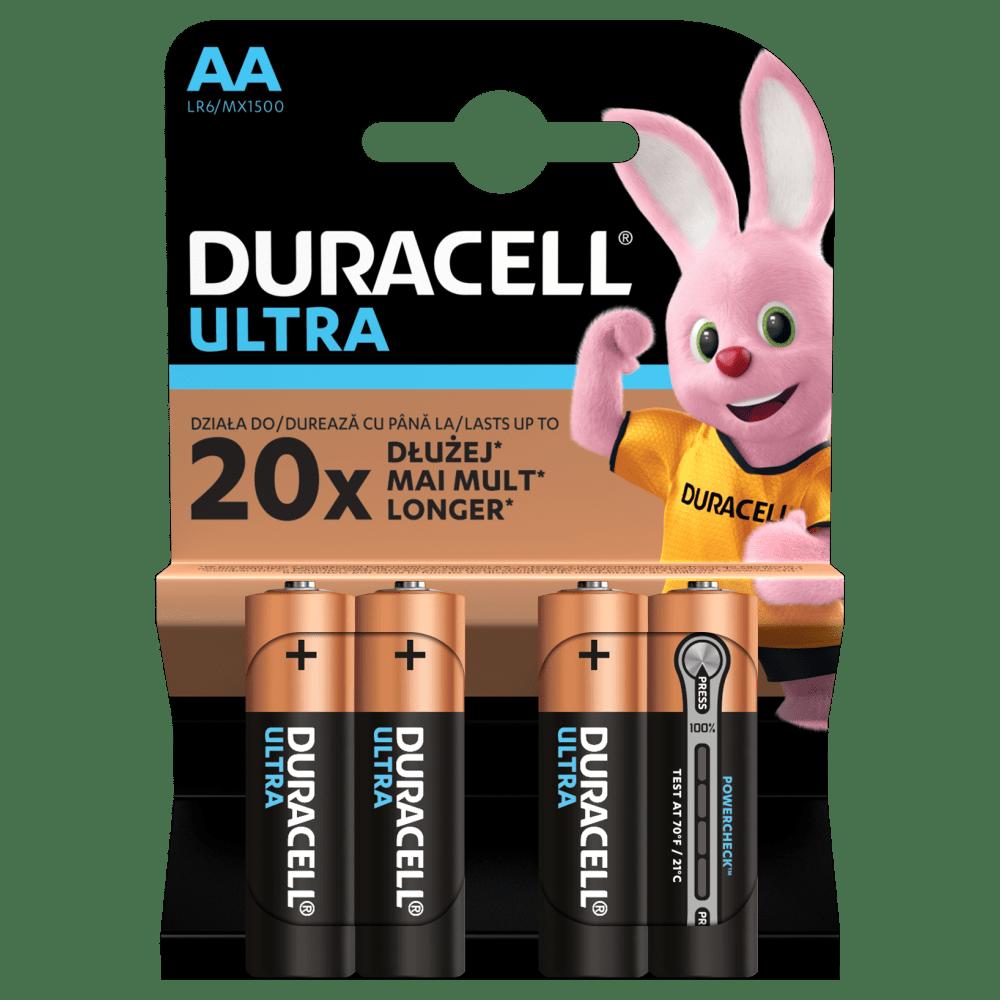 Duracell ULTRA POWER Alkaline-Batterie AA LR6 1,5V Blister 4 Stück