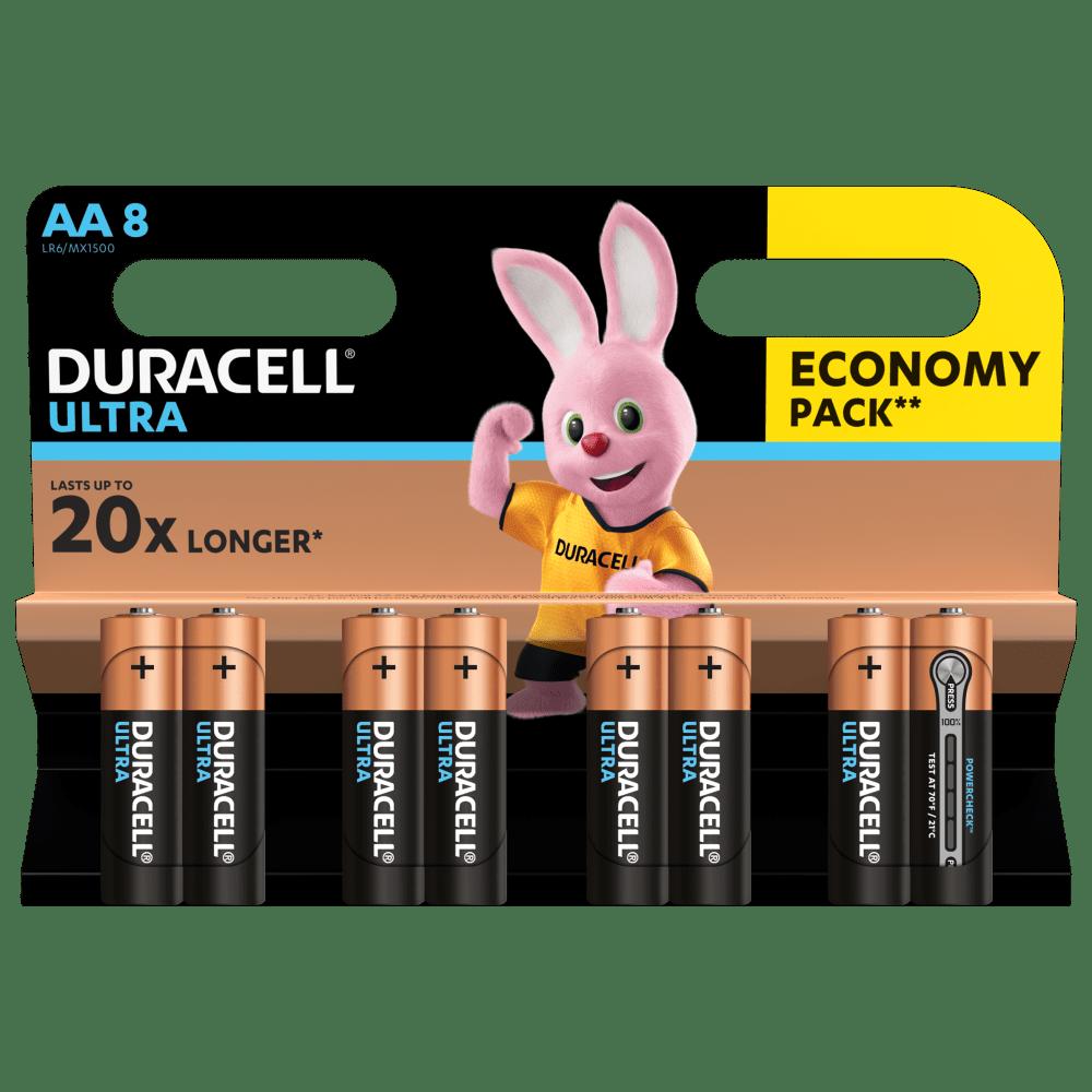 Duracell ULTRA POWER Alkaline-Batterie AA LR6 1,5V Blister 8 Stück