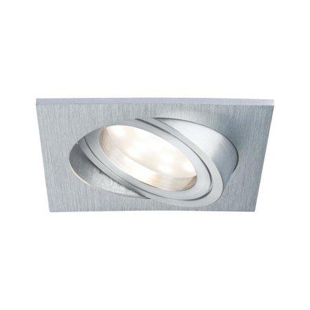 Einbauleuchten quadratisch schwenkbar Coin dimmbar LED 7W 2700K Aluminium