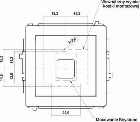 Einzelner Multimedia-Slot-Mechanismus ohne Modul (Keystone-Standard) gold 8DGM-1P