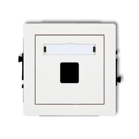 Einzelner Multimedia-Slot-Mechanismus ohne Modul (Keystone-Standard) weiß DGM-1P
