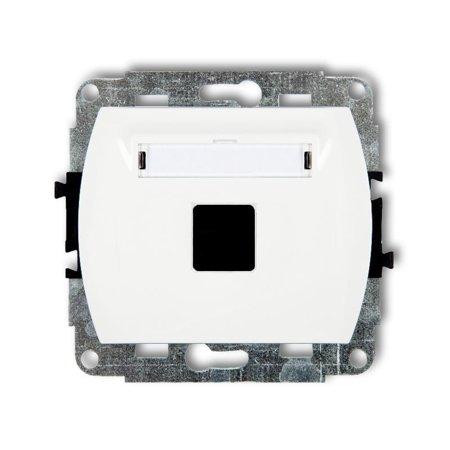 Einzelner Multimedia-Slot-Mechanismus ohne Modul (Keystone-Standard) weiß GM-1P