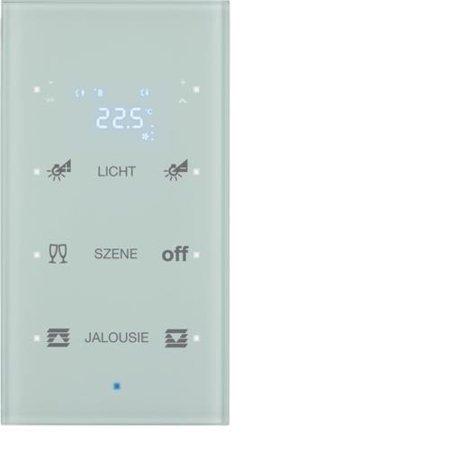 Glas-Sensor 3fach mit Temperaturregler TS Sensor konfiguriert polarweiß Hager 75643130