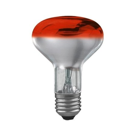 Glühbirne R80 E27 rot 60W 76lm