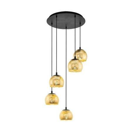 Hängelampe ALBARACCIN gold 5x E27 40W 58,5cm 98526 EGLO
