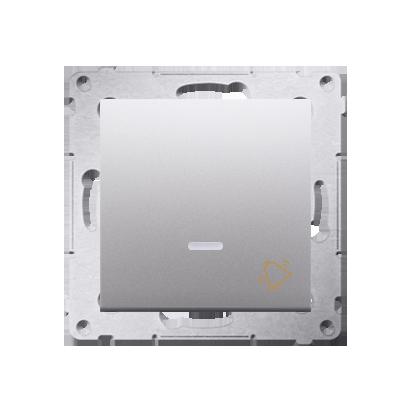Klingeltaster(Modul) mit Aufdruck und LED Silber Kontakt Simon 54 Premium DD1L.01/43