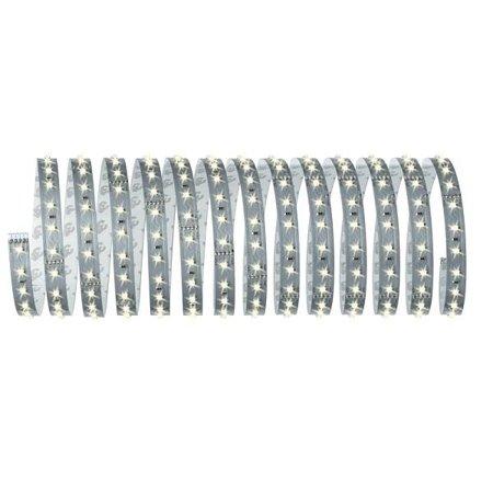 Komplettset mit Stripe LED 5m Warmweiß MaxLED 500 33,5W 2700K 2750lm 230/24V Silber