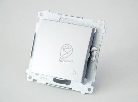 Kreuzschalter (Modul) mit Aufdruck  Steckklemmen Silber Simon 54 Premium Kontakt Simon DW7.01/43