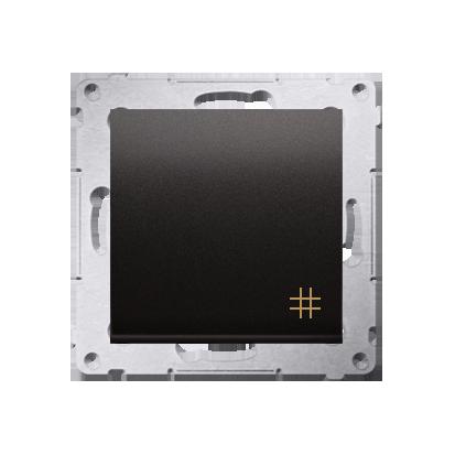 Kreuzschalter (Modul) mit Aufdruck und Anthrazit matt Kontakt Simon 54 Premium DW7A.01/48
