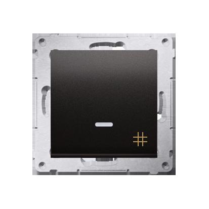 Kreuzschalter (Modul) mit Aufdruck und LED Anthrazit Kontakt Simon 54 Premium DW7L.01/48