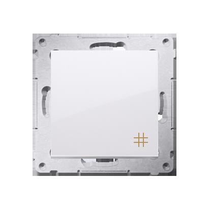 Kreuzschalter (Modul) mit Aufdruck und weiß Kontakt Simon 54 Premium DW7A.01/11
