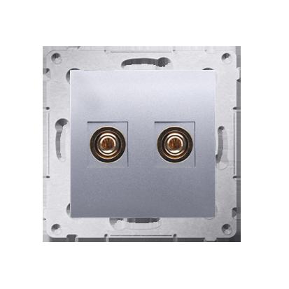 Lautsprecher Anschlussdose Modul-Einsätze 1fach silber matt Kontakt Simon 54 Premium DGL2.01/43