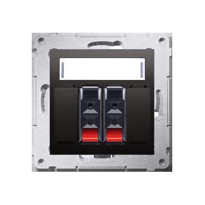 Lautsprecher Anschlussdose Modul-Einsätze 2fach anthrazit matt Kontakt Simon 54 Premium DGL32.01/48