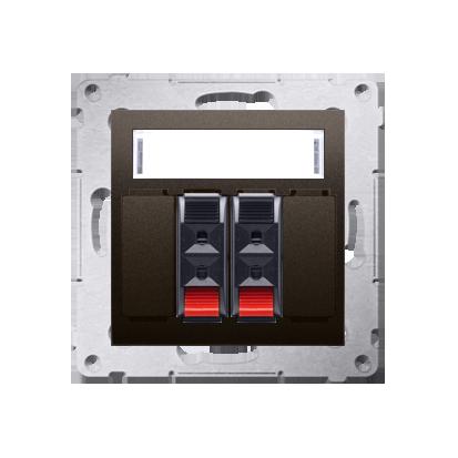 Lautsprecher Anschlussdose Modul-Einsätze 2fach braun matt Kontakt Simon 54 Premium DGL32.01/46