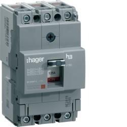 Leistungschalter h3 x160 TM ADJ 3P3D 80A 25kA CTC Hager HHA080H