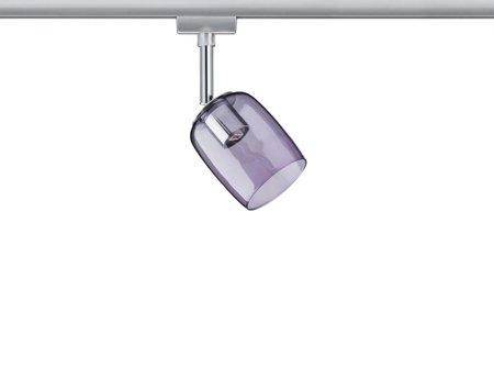 Leuchtmittel - Schienensystem URail Spot Blossom G9 Chrom klar lila